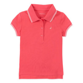 TODDLER GIRLS' CONTRAST TRIM POLO (2T-4T)